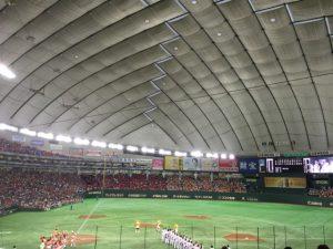 東京ドーム  巨人 VS 広島 2016/9/11 水道橋