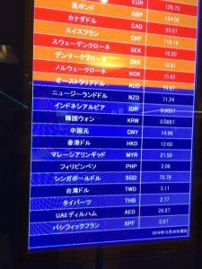 両替に関して 円 ⇒ 香港ドル 東京国際空港 2016/12/30