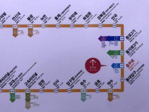 会賢(フェヒョン)⇒ 忠武路(チュンムロ)⇒ 景福宮(キョンボックン)